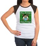 Fairy Christmas Angel Women's Cap Sleeve T-Shirt