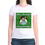Fairy Christmas Angel Jr. Ringer T-Shirt