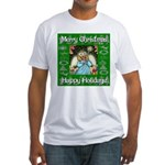 Fairy Christmas Angel Fitted T-Shirt
