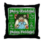 Fairy Christmas Angel Throw Pillow
