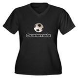 Guatemala Soccer players Women's Plus Size V-Neck