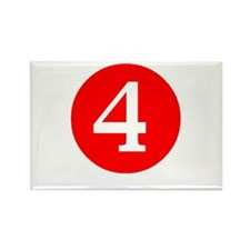 Fourth Birthday Rectangle Magnet (100 pack)