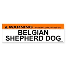 BELGIAN SHEPHERD DOG Bumper Car Sticker