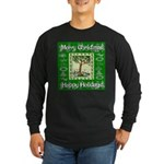Partridge in a Pear Tree Long Sleeve Dark T-Shirt