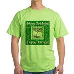Partridge in a Pear Tree Green T-Shirt