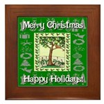 Partridge in a Pear Tree Framed Tile