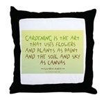 Flowers as Paint Throw Pillow