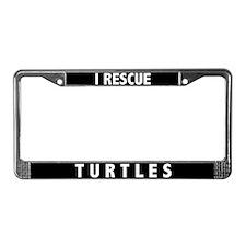 I Rescue Turtles License Plate Frame