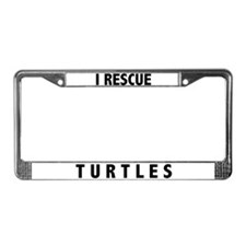 I Rescue Turtles License Plate Frame