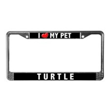 I Heart My Pet Turtle License Plate Frame