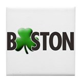 Boston (Shamrock O) - Tile Coaster