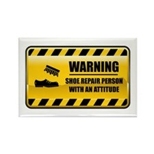Warning Shoe Repair Person Rectangle Magnet
