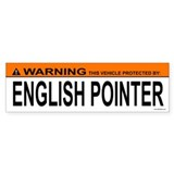 ENGLISH POINTER Bumper Car Sticker