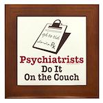 Funny Doctor Psychiatrist Framed Tile