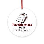 Funny Doctor Psychiatrist Ornament (Round)