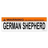 GERMAN SHEPHERD Bumper Car Sticker