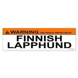 FINNISH LAPPHUND Bumper Car Sticker