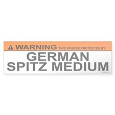 GERMAN SPITZ MEDIUM Bumper Bumper Sticker