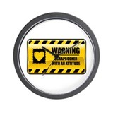 Warning Scrapbooker Wall Clock
