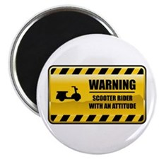 "Warning Scooter Rider 2.25"" Magnet (10 pack)"