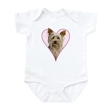 Heart Yorkie - Infant Bodysuit