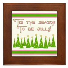 'Tis the season to be jolly Framed Tile