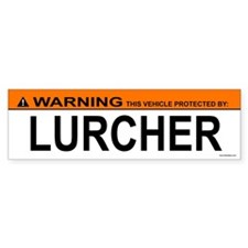 LURCHER Bumper Bumper Sticker