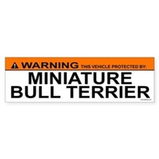 MINIATURE BULL TERRIER Bumper Bumper Sticker