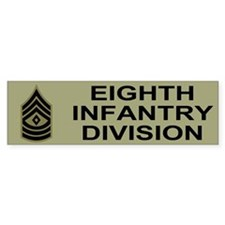 8th Infantry Division<BR> Bumper Sticker 2