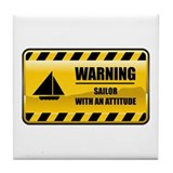 Warning Sailor Tile Coaster