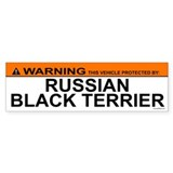 RUSSIAN BLACK TERRIER Bumper Car Sticker