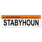 STABYHOUN Bumper Car Sticker