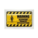 Warning Respiratory Therapist Rectangle Magnet (10
