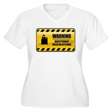 Warning Receptionist T-Shirt
