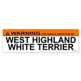 WEST HIGHLAND WHITE TERRIER Bumper Car Sticker
