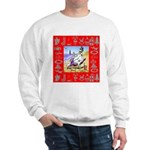 Snowman Vacationing At Beach Sweatshirt