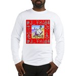 Snowman Vacationing At Beach Long Sleeve T-Shirt
