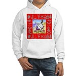 Snowman Vacationing At Beach Hooded Sweatshirt