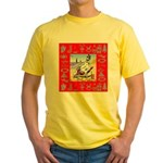 Snowman Vacationing At Beach Yellow T-Shirt