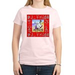 Snowman Vacationing At Beach Women's Light T-Shirt