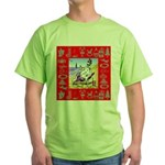 Snowman Vacationing At Beach Green T-Shirt