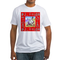 Snowman Vacationing At Beach Fitted T-Shirt