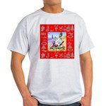 Snowman Vacationing At Beach Light T-Shirt