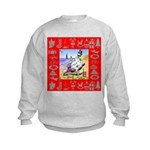 Snowman Vacationing At Beach Kids Sweatshirt