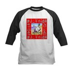 Snowman Vacationing At Beach Kids Baseball Jersey