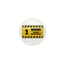 Warning Preacher Mini Button (10 pack)