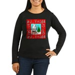 Polar Bear Decorating The Tre Women's Long Sleeve