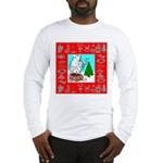 Polar Bear Decorating The Tre Long Sleeve T-Shirt