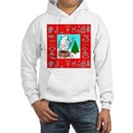 Polar Bear Decorating The Tre Hooded Sweatshirt