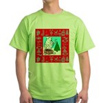 Polar Bear Decorating The Tre Green T-Shirt